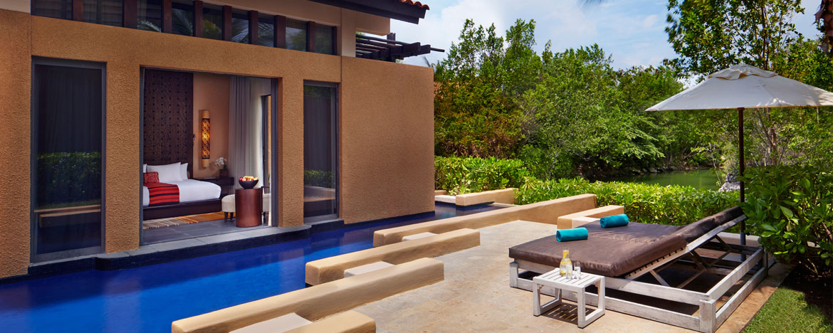 Bliss Pool Villa room in Banyan Tree Mayakoba Resort