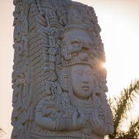 Mayan totem pole