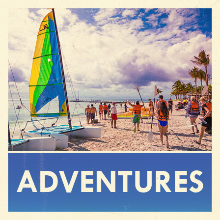 Adventures sailboat in the Caribbean